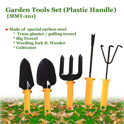 Garden Tools Set With Plastic Handle